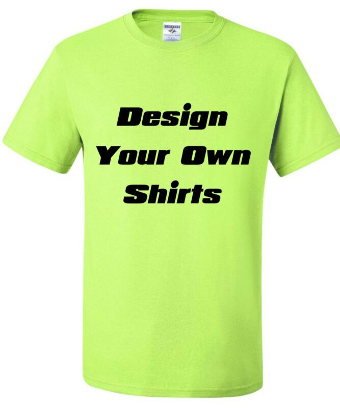 48 Design Your Own Double Sided Printed T-Shirts with 1 Color Print