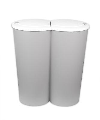 2-fach Mülleimer Doppel Duo Abfallsammler Behälter Mülltrenner Trennsystem 2x25L