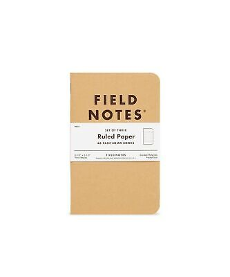 """Field Notes: Original Kraft 3-Pack - Ruled Paper - 48 Pages - 3.5"""" x 5.5"""""""