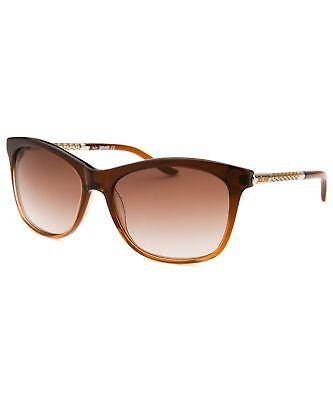 BRAND NEW Just Cavalli JC629S-50F-57 Translucent Brown/Brown Women's Sunglasses