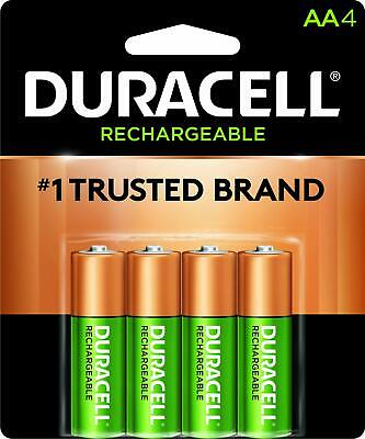 4 Duracell AA Pre Charged Rechargeable 2500mAh NiMH Batterie