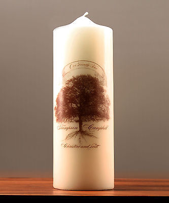 Weddingstar Family Oak Tree Personalized Unity Candle Ceremony Wedding Candles