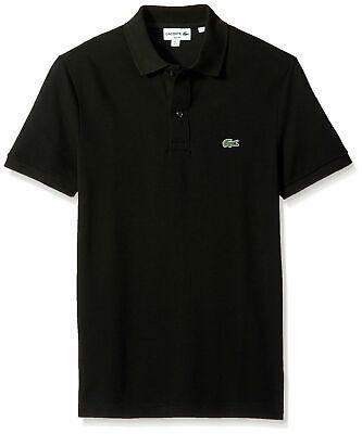 Lacoste Men's Polo Shirt Slim Fit Black Size Large FR 5