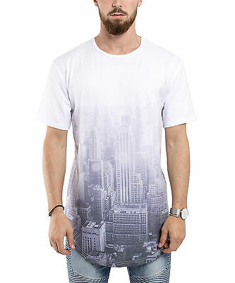 Blackskies City Light Oversize T-Shirt Longshirt Men/'s Longline Long New York