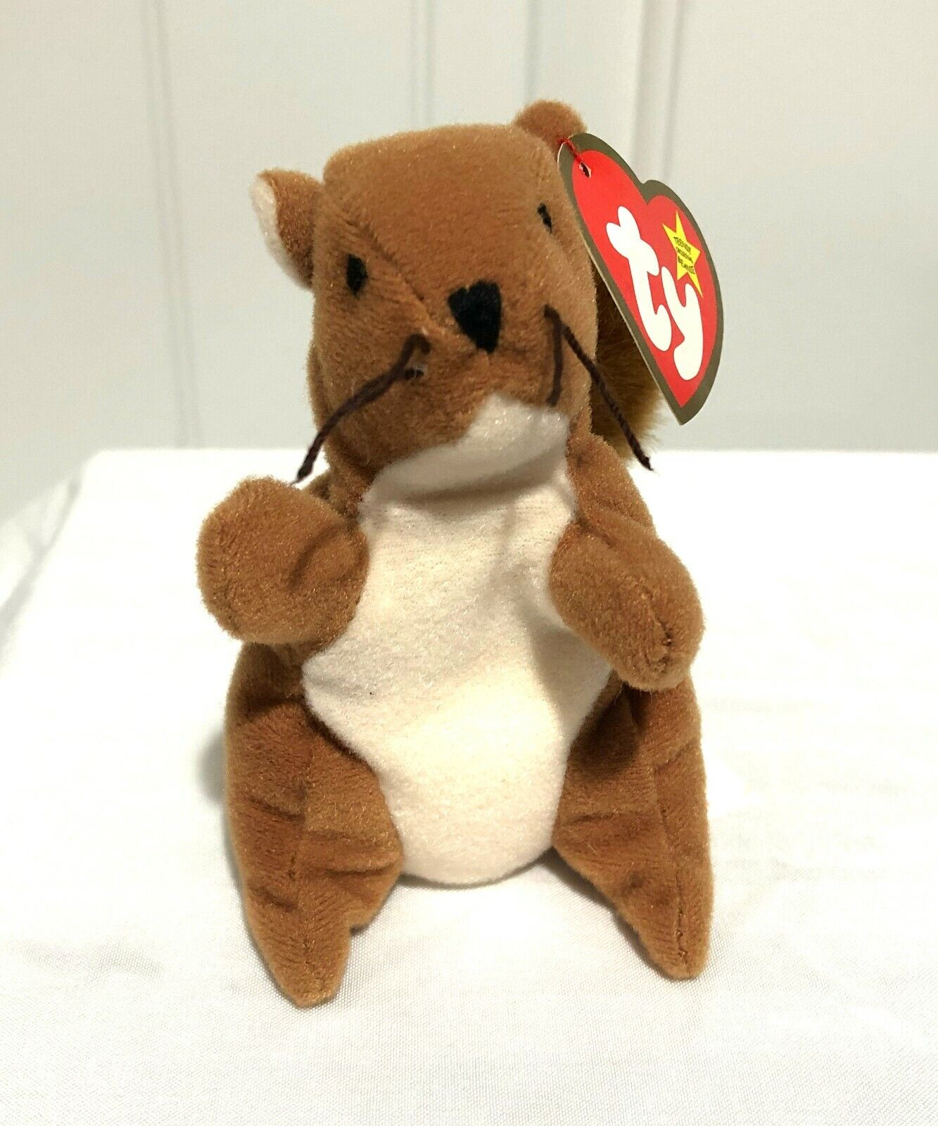 TY Beanie Babies Baby NUTS  the Squirrel - Plush Beanbag Ani