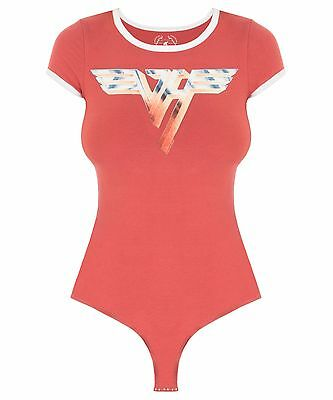 NWOT TRUNK LTD VAN HALEN TEE BODYSUIT One Piece Red Wonder woman onesie *Medium