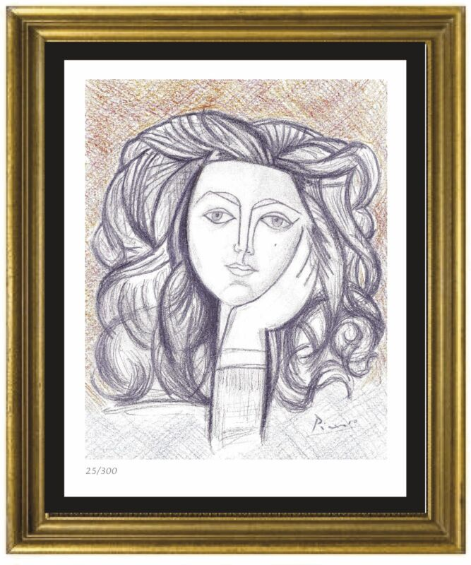 "Pablo Picasso Signed/Hand-Numbered ""Portrait Francoise"" Litho Print (unframed)"