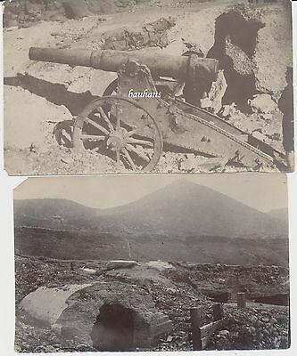 2 x Foto China--Boxeraufstand-Revolution - Geschütz-Soldat-Bunker 1904  (1572)