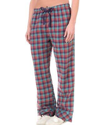 Woolrich Damen Flanell (Woolrich - Damen XL - Pemberton Seegrün Büffel Karierte Flanell Pyjama Hose)