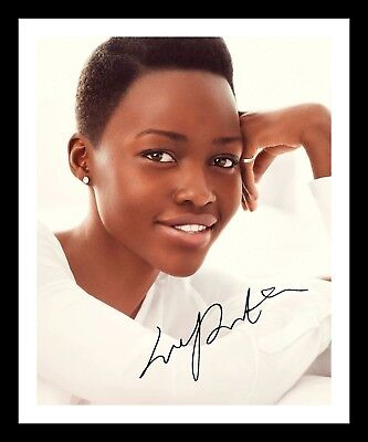LUPITA NYONG'O AUTOGRAPHED SIGNED & FRAMED PP POSTER PHOTO