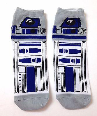 New  1 Pair  Star Wars R2d2 Droid Ankle Socks Short Low Cut R2 D2 Men Women Osfm