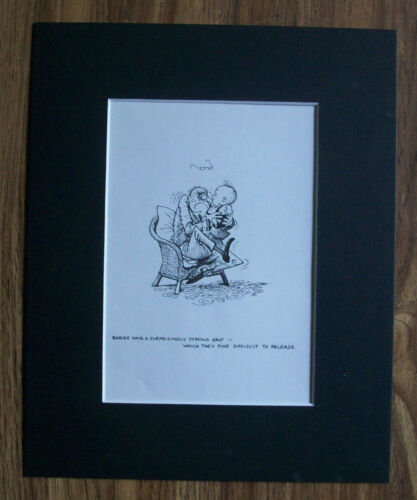 Child Cartoon Print Norman Thelwell Strong Nose Grip Bookplate 1977 8x10 Matted