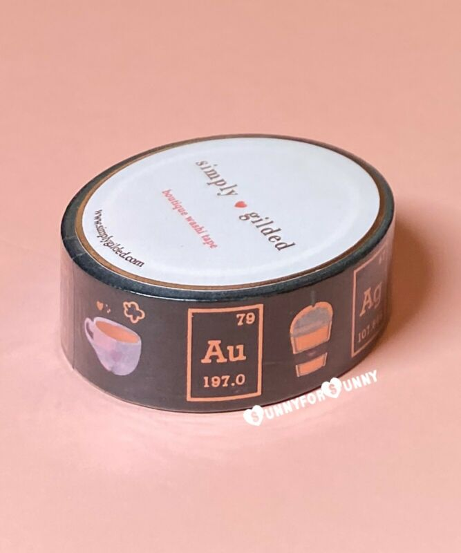 Simply Gilded COFFEE *Chemistry* Rose Gold Washi Tape *sold out*