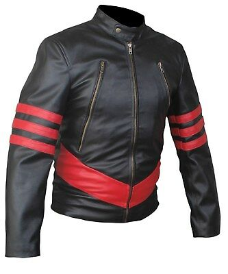 Xmen Kostüme (Xmen Origin Wolverine Logan Hugh Jackman Black and Red Jacket)