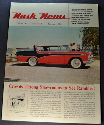 1956 Nash News Catalog Brochure Rambler Custom Excellent Original 56