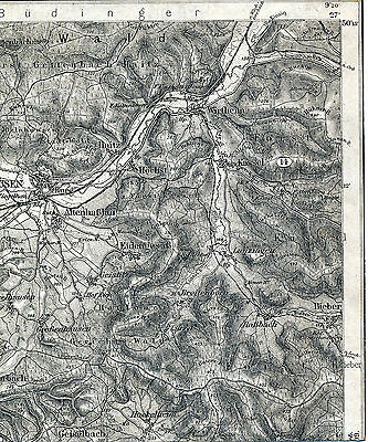 Gelnhausen Linsengericht Biebergemünd 1910 Teil-Karte/Ln. Wirtheim Haitz Höchst