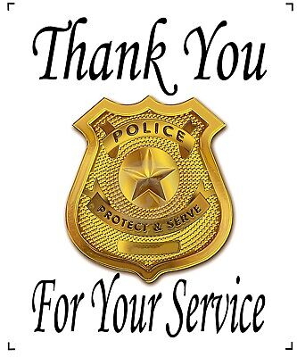 Thank You Banner (Police Thank You For Your Service Quilt Block Banner 10x14