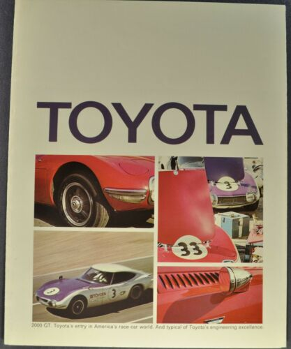 1969 Toyota Brochure Corona Corolla Crown Wagon Land Cruiser Excellent Original