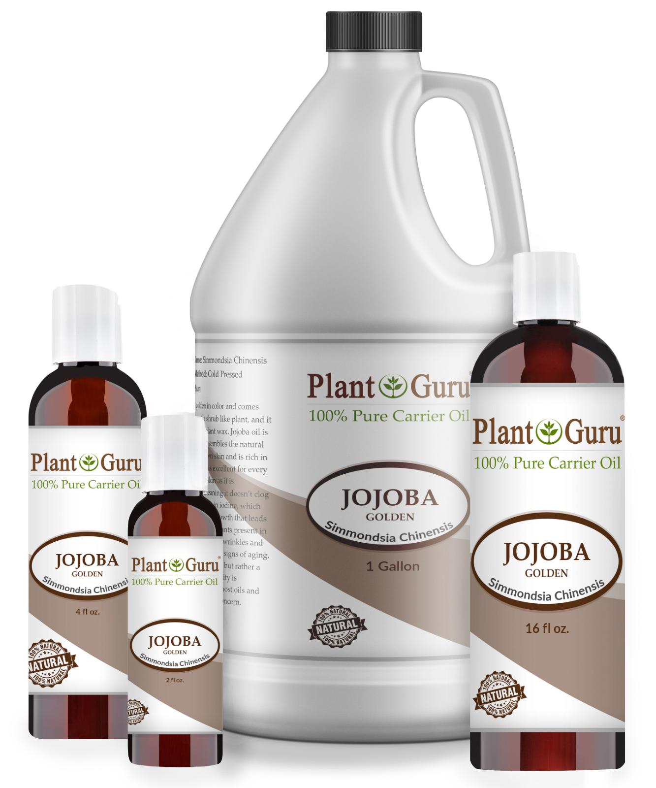 Golden Jojoba Oil Cold Pressed 100% Pure Natural For Skin Fa