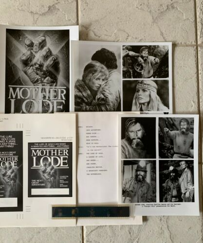 1982 MOTHER LOAD  Movie press kit B&W stills color negatives Charlton Heston