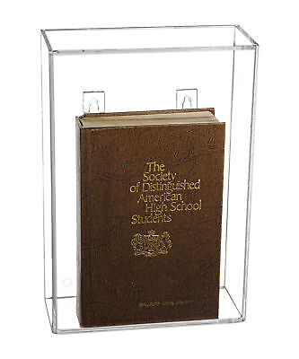 - Deluxe Clear Acrylic Book Display Case with Wall Mount (A020)