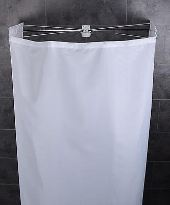RIDDER Duschvorhang Duschkabine Duschspinne Duschschirm Ombrella Textil weiß