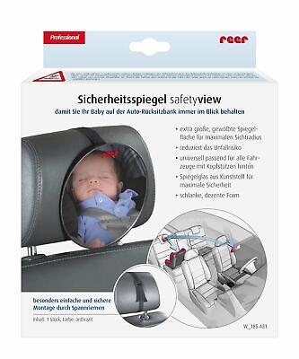 reer 8601 – Baby Rücksitzspiegel SafetyView für mehr Sicherheit im Auto,