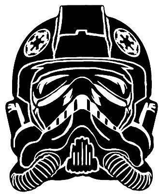 Star Wars TIE Fighter Pilot Vinyl Decal Sticker Car Van Laptop Tablet Wall