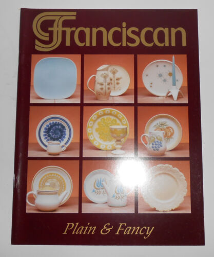 Franciscan Pottery Plain & Fancy Book By Delleen Enge AUTOGRAPHED