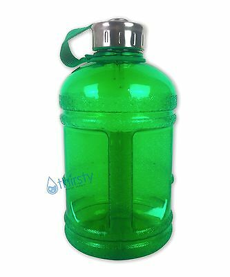 a221879c30 Green BPA Free Half Gallon Water Bottle Drinking Gym Jug Canteen Steel Cap  64 oz