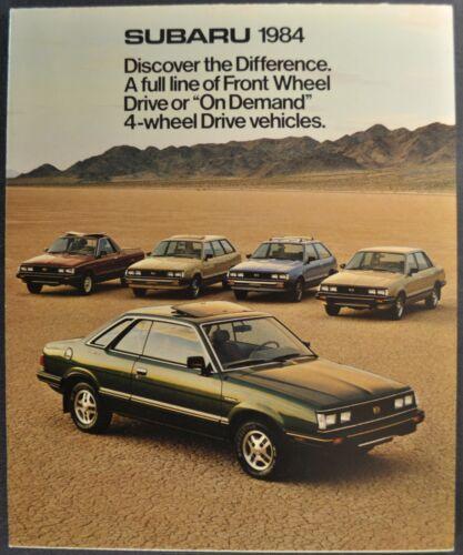 1984 Subaru Brochure GL Hatchback Hardtop Wagon Brat 4x4 Excellent Original 84