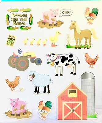 Farm Barnyard Animals Stickers Planner Papercraft Journal Party Cow Horse (Farm Animals Stickers)
