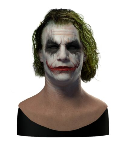 Silicone Mask | Realistic Heath Ledger Joker Halloween Mask | SPFX
