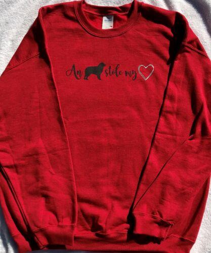 Aussie Rescue - Large An Aussie stole my heart sweatshirt - Antique Cherry
