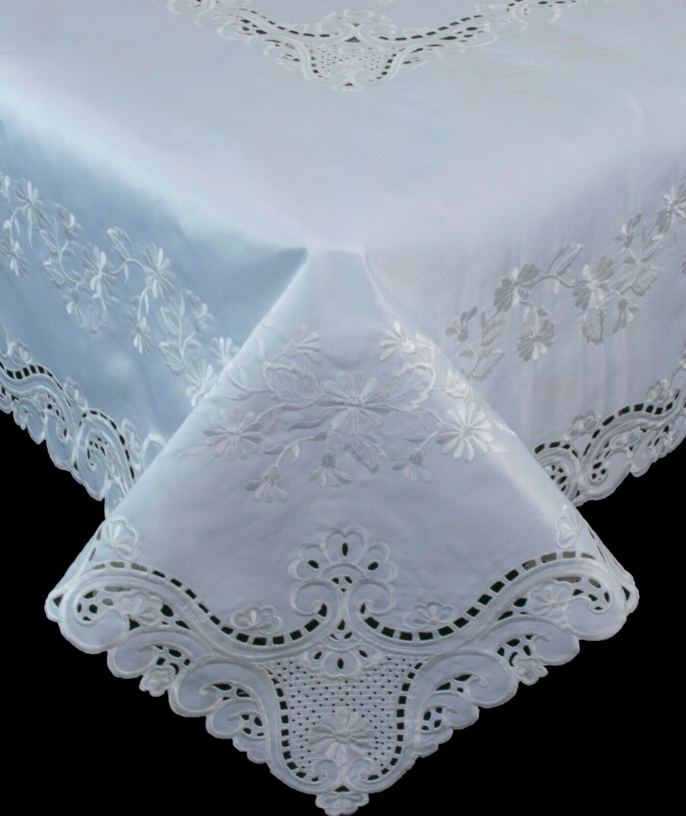 Embroidered Tablecloth Napkin Runner Placemat Banquet Weddin