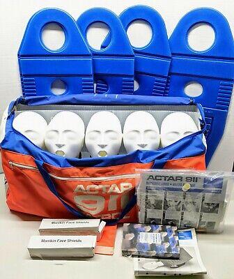 5x Actar 911 Patrol Cpr Training Manikin Kit 5 Pack Good Condition Mannequin