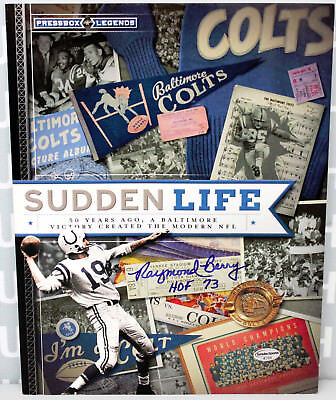 NEW Autographed Signed Raymond Berry HOF Sudden Life Baltimore Colts Book w/COA