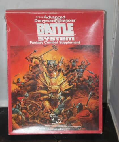 1985 TRS Battle System AD&D Dungeons And Dragons Fantasy Combat Supplement