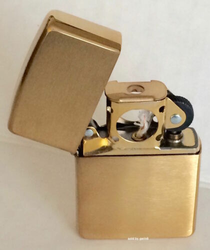 Zippo Windproof Brushed Brass Pipe Lighter, 204BPL, 204B Pipe, New In Box