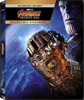 Avengers  Infinity War  Steelbook   Blu Ray 3D   Blu Ray   Region Free   New