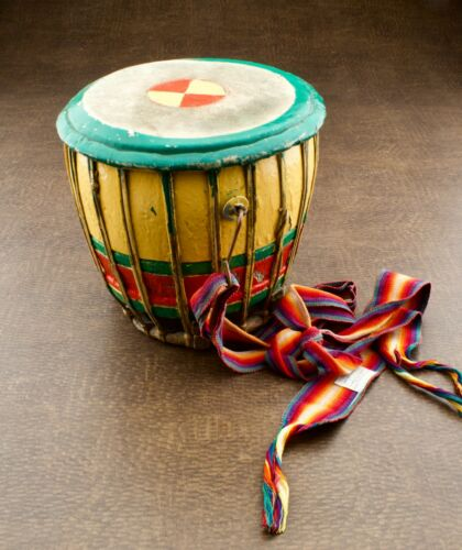 African Tabla Drum Wood Handmade