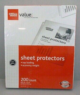 Sheet Protectors 200 Count Office Depot