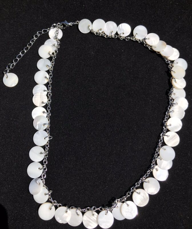 12 Piece Lot Real Shell disc Necklace Wholesale Lot