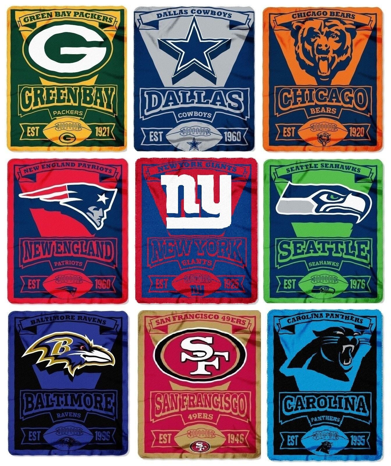 Купить Northwest - Brand New NFL Teams New Logo Large Soft Fleece Throw Blanket 50 X 60 Marque