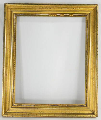 Antique American Gilt Gold Painting Frame Perfect for Folk Art or Americana