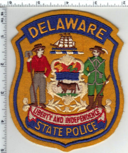 State Police (Delaware) Uniform Take-Off Shoulder Patch from the Early 1980