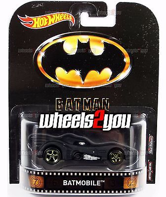 BATMOBILE Batman - 1989 Michael Keaton - 2017 Hot Wheels Retro Entertainment