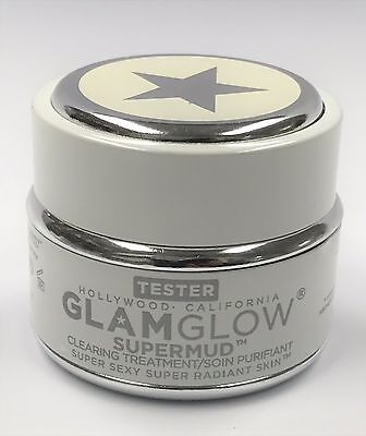 New GlamGlow SuperMud Clearing Treatment Super Mud Skin Cleansing Mask NWOB