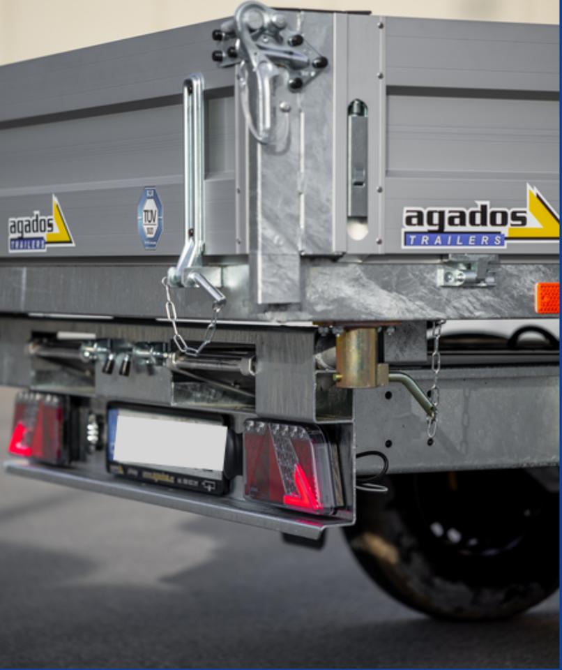 Agados Anhänger ATLAS B2 Dreiseitenkipper 3000 kg in Weiden (Oberpfalz)
