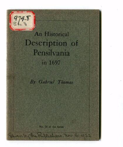 Vintage Advertising Booklet PENNSYLVANIA Pensilvania 1697 Benj Emery Printing